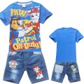 Boys Paw Patrol tee with denim pants - Blue