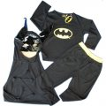 Batman Costume party dress up with Mask 3pcs black
